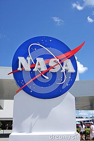 NASA sign Editorial Stock Photo