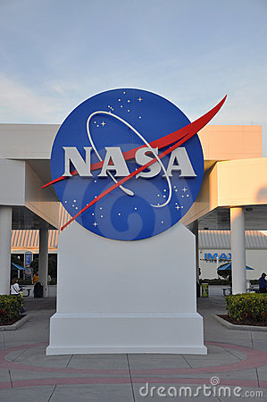 NASA sign in Kennedy Space Center Editorial Image