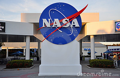 NASA sign in Kennedy Space Center Editorial Photography