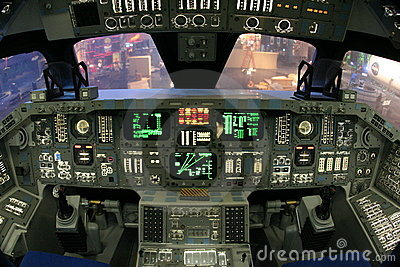 NASA Space Shuttle Cockpit Editorial Stock Photo