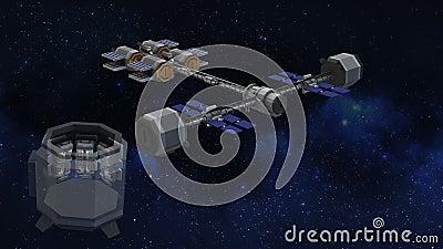 NASA-Transfer Habitat for Human Stasis to Mars ilustracji