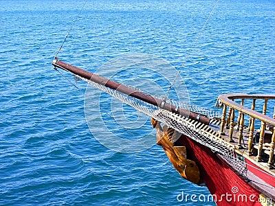 Nasal mast sailboat