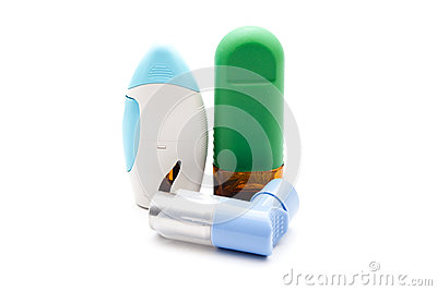 Nasal Spray with Asthma Inhaler