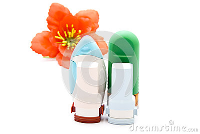 Nasal Spray with Asthma Inhaler