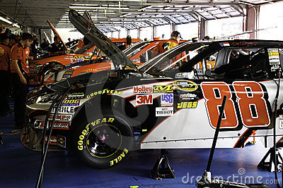 NASCAR 2010 All Star Dale Jr s #88 gets a tune up Editorial Photography
