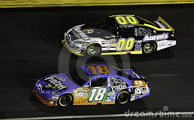 NASCAR - 2010 All Stars Busch and Reutimann Editorial Stock Image