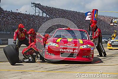 NASCAR 2012:  Sprint Cup Quicken Loans 400 Editorial Stock Image