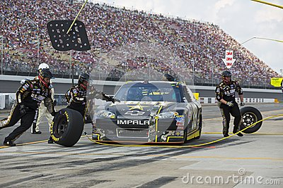 NASCAR 2012:  Sprint Cup Quicken Loans 400 Editorial Photo