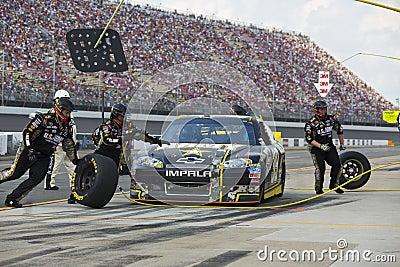 NASCAR 2012:  Sprint Cup Quicken Loans 400 Editorial Photo