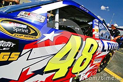 NASCAR - 4 cronometram o campeão #48 do copo de Sprint Foto Editorial