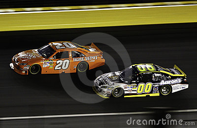 NASCAR - All Stars Logano and Reutimann Editorial Stock Photo