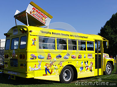 NASCAR Bus Editorial Image