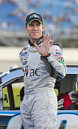 NASCAR:  Carl Edwards LifeLock.com 400 Stock Image - Image: 10097391