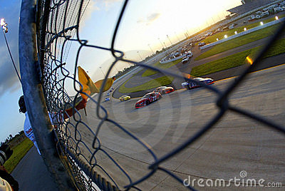 NASCAR Caution for Spin Editorial Photography