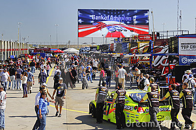 NASCAR - Charlotte Fans In Garage Area Pre Race Editorial Photography