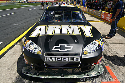 NASCAR - Coca Cola 600 - Newman s Army Chevy Editorial Photography