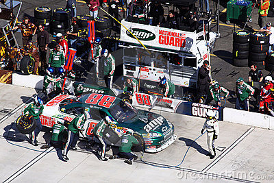 NASCAR Sprint Cup Jimmie Johnson Pit Stop Editorial Stock Image ...