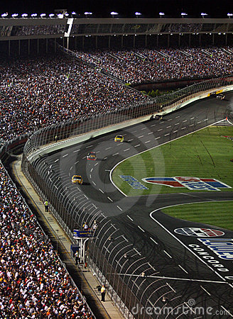 Free NASCAR - Down The Front Stretch 2 Stock Image - 6396231