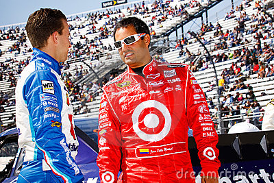 NASCAR Drivers Montoya and Allmendinger Editorial Photo