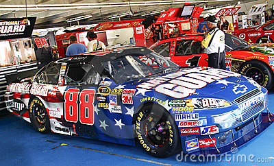 NASCAR - Earnhardt Jr s Patriotic #88 Chevy Editorial Photography