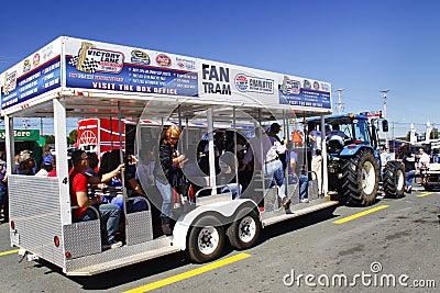 NASCAR - Fan Tram in Charlotte Editorial Photography