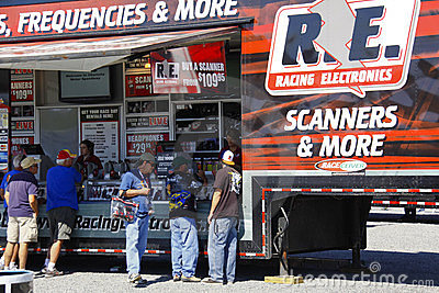 NASCAR - Fans Check Out Racing Electronics Editorial Stock Image