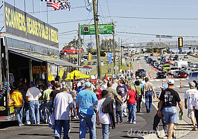 NASCAR - Fans Crowd Vendor Displays Editorial Photography