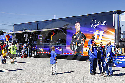 NASCAR - Fans at Hamlin s Merchandise Trailer Editorial Stock Image