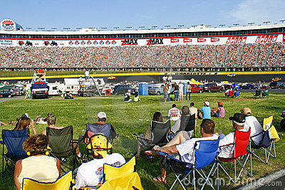 NASCAR - fans in the infield and stands Editorial Photo
