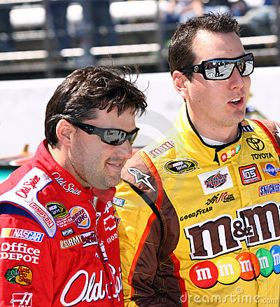 NASCAR - former teammates share a laugh Editorial Photography