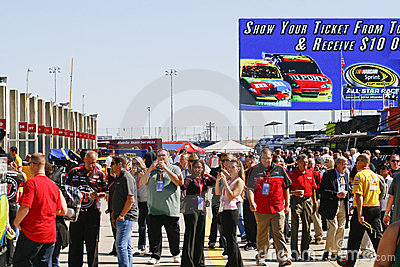 NASCAR - Garage Tours Are Very Popular Editorial Stock Image