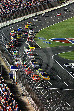 NASCAR - Go Green! Editorial Stock Photo