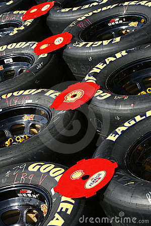 Nascar on Nascar   Goodyear Racing Eagle Tires Royalty Free Stock Images   Image