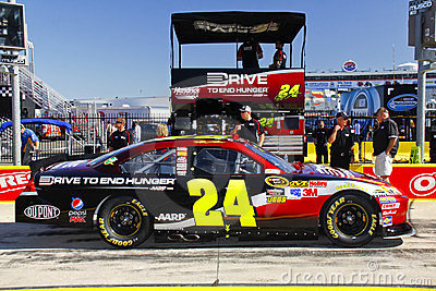 NASCAR - Gordon's #24 Pre Race Pit Box Royalty Free Stock Images - Image: 23489819