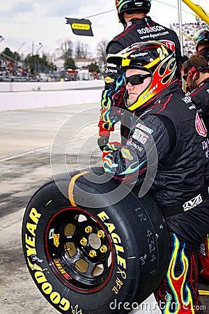 NASCAR - Gordon s Rainbow Warrior Pit Crew Editorial Stock Photo