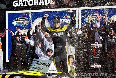 NASCAR: James Buescher wins the Drive4COPD 300 Editorial Image