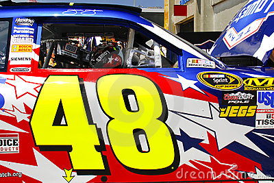 NASCAR - Johnson s #48 Door Decal Editorial Photography
