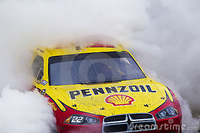 NASCAR: Kurt Busch does a burnout Editorial Photo