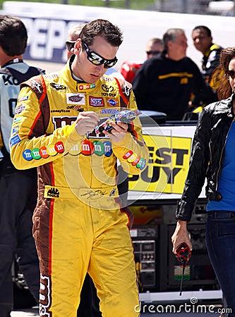 NASCAR - Kyle Busch Autographs a Souvenir Editorial Image
