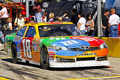 NASCAR - Kyle Busch s M&Ms Toyota Camry Editorial Photography