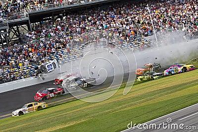 NASCAR: Kyle Larson wrecks at daytona Editorial Stock Photo