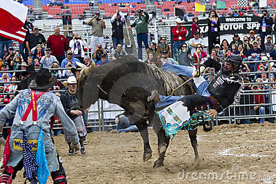 NASCAR: Kyle Petty Rides a Bull Editorial Stock Image