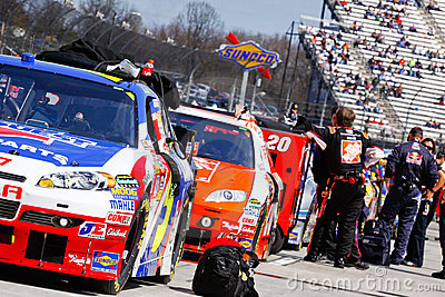 NASCAR - Martinsville Pit Road Angles Editorial Photography