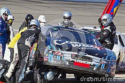 NASCAR:  Oct 02 Kansas Lottery 300 Editorial Photography