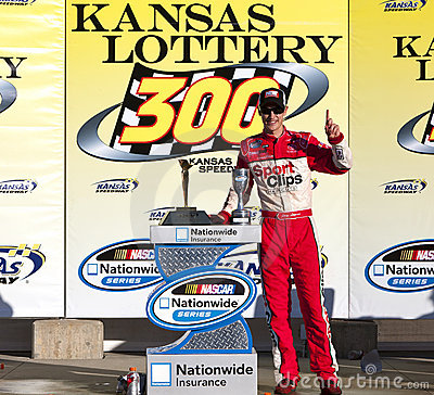 NASCAR:  Oct 02 Kansas Lottery 300 Editorial Photography