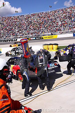NASCAR - Pit Crew in Action! Editorial Photography