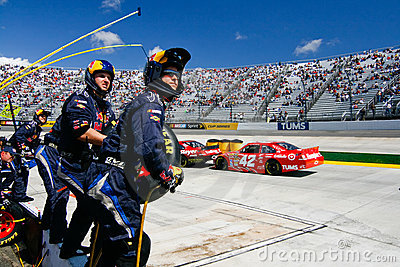 NASCAR - Pit Crew Ready On the Wall!!! Editorial Stock Photo