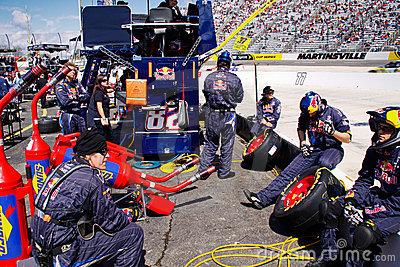 NASCAR - Pit Crew Relaxing Editorial Image