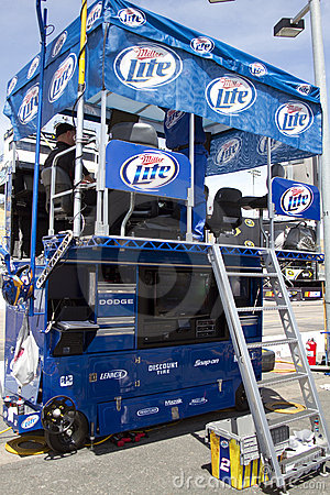 NASCAR Pit Crew Station Editorial Stock Photo