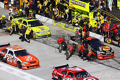 NASCAR - Pit Road Is Busy! Editorial Image